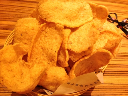image of prawn crackers at Naamyaa Cafe