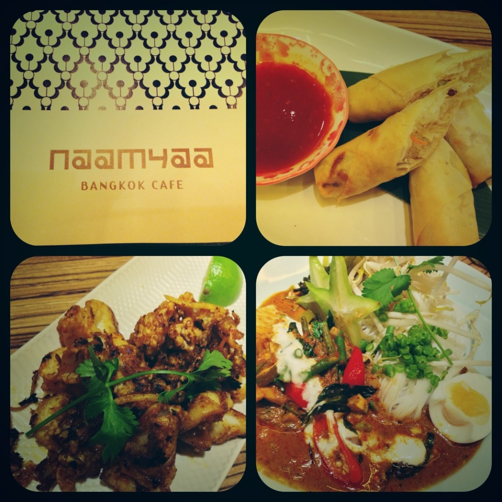 collage of food at Naamyaa Cafe