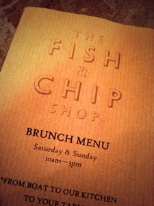 fish and chip shop brunch menu