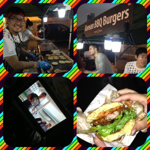 collage of Galbi Bros at Urban food fest