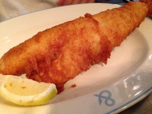 cod at the fish & chip shop