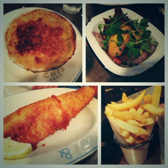 lunch at The Fish & Chip Shop