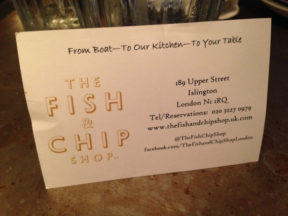 contact details for The Fish & Chip Shop