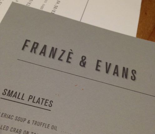 franze and evans menu
