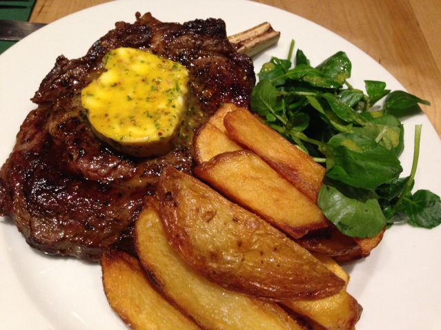 ONGLET STEAK, TRIPLE COOKED CHIPS & BERNAISE franze and evans