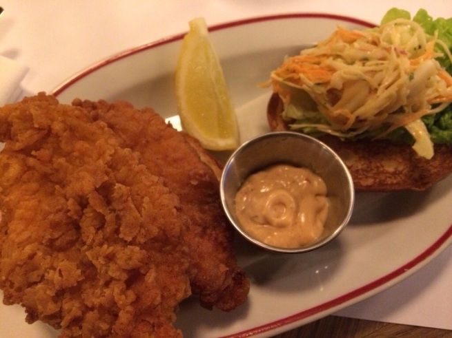 Buttermilk fried chicken sandwich, Jackson|+Rye