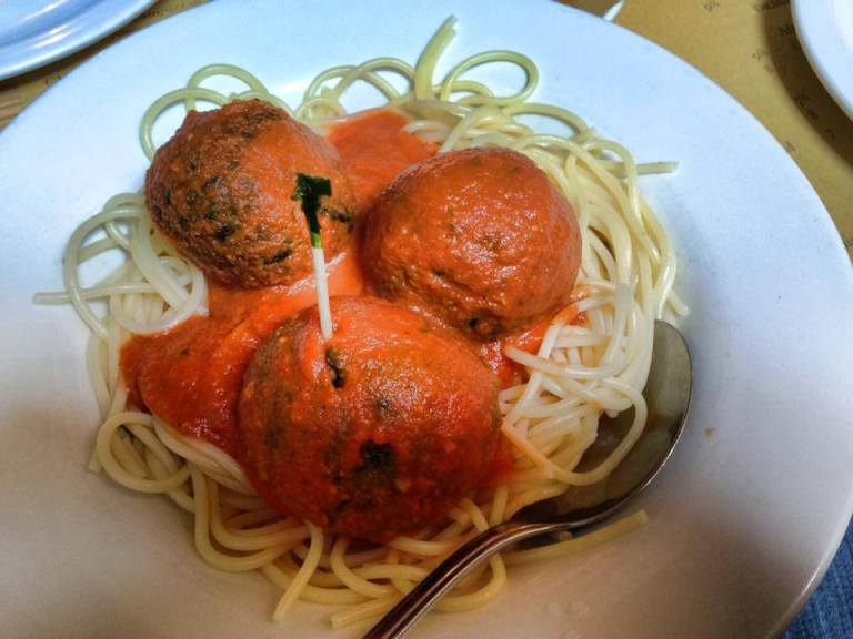veg meatballs polpo