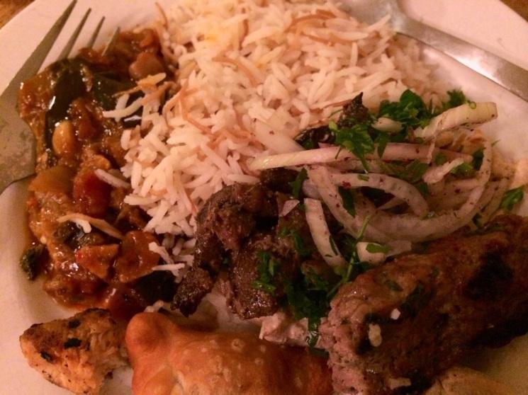 Lebanese meal from The Cedar, Maida Vale