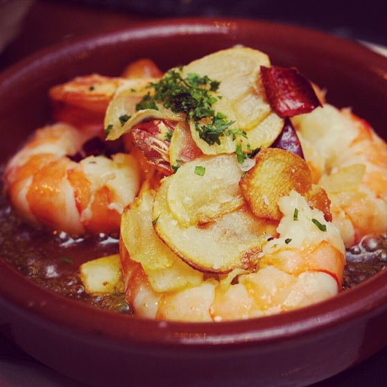 gambas at Tapa Brindisa Soho