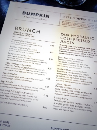 menu, bumpkin