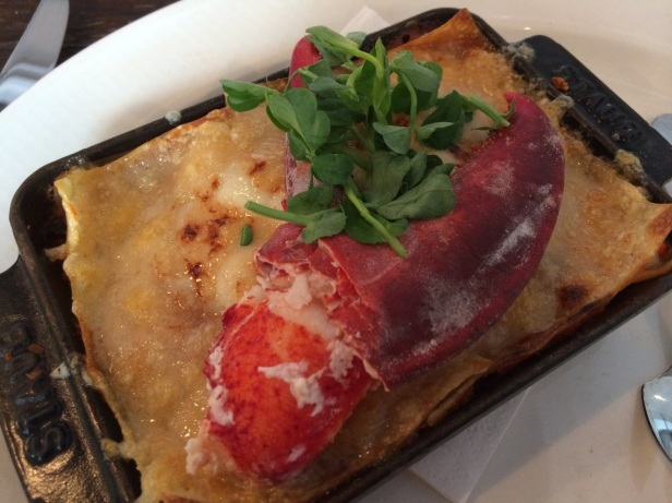 Lobster Lasagne, The Riding House Cafe