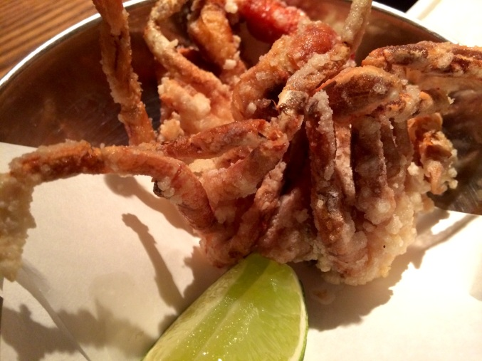 soft shell crab, flesh and buns