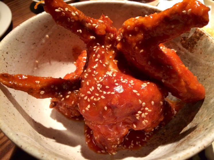 Korean fried wings, Flesh and Buns