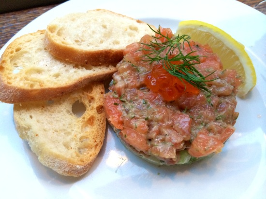 Salmon Tartare at Blanchette Soho
