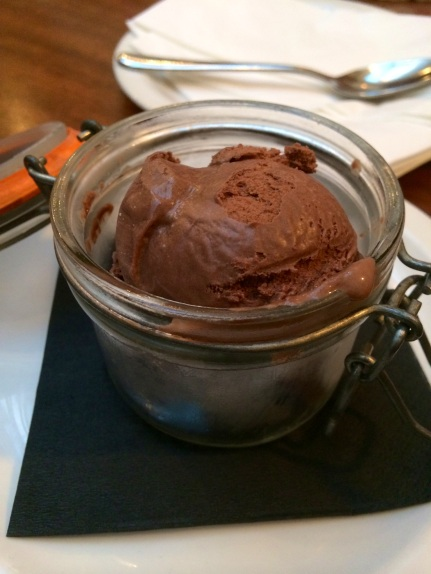 home made chocolate ice cream