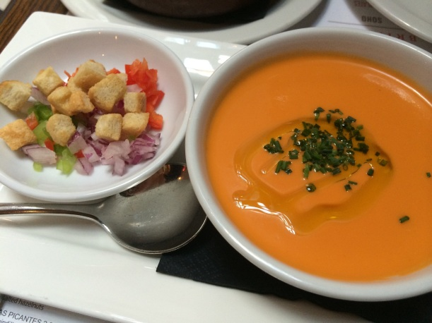 Gazpacho at Tapas Brindisa Soho