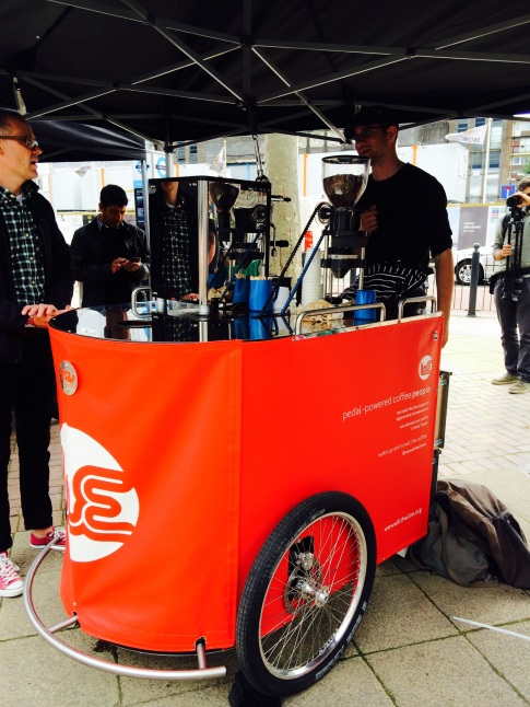 Pedal powered coffee at Bite Street Food