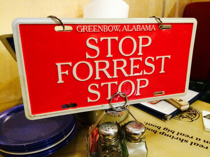 Stop Forrest Stop sign