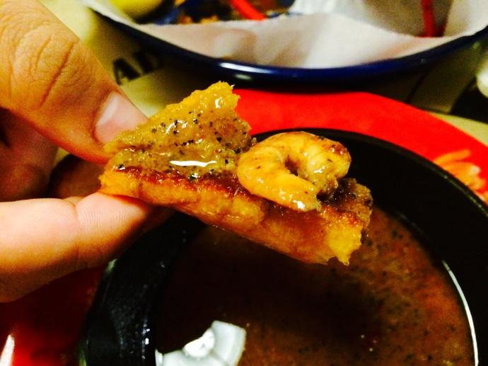 close up of Cajun Shrimp