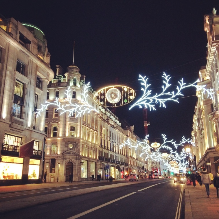 christmas lights regent street london