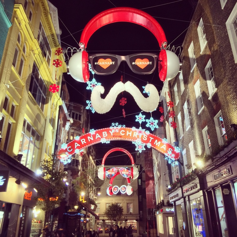 christmas lights carnaby street london