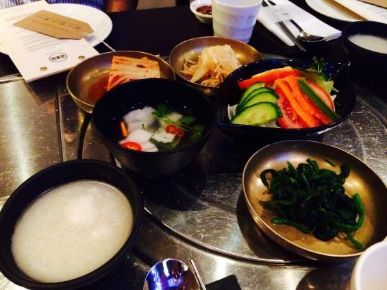 condiments at Jin Go Gae