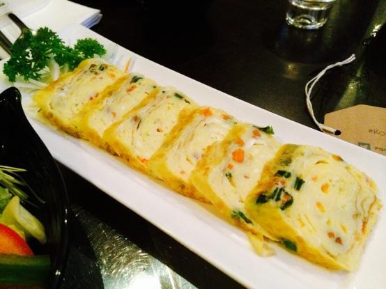 korean egg pancake at Jin Go Gae New Malden