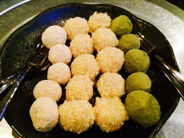 sweet rice balls dessert at Jin Go Gae New Malden