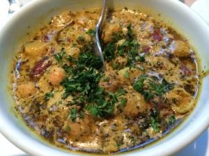 vegetarian dish at Afghan kitchen London