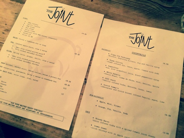 the joint menu