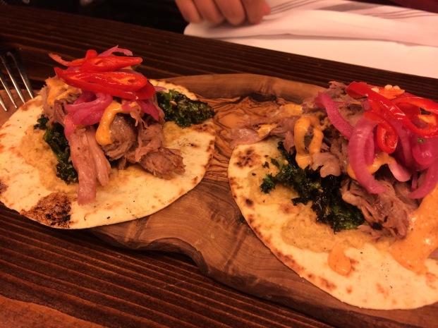 beef tacos at hotbox london