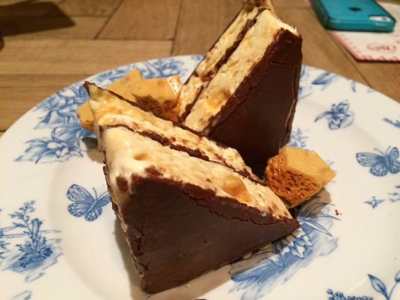 Iced Honeycomb and Chocolate Parfait Sandwich, Joe's in Kentish Town
