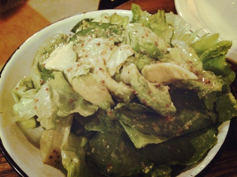 butter lettuce and avocado at the chicken shop