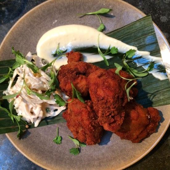 friend chicken at pachamama bar and kitchen london