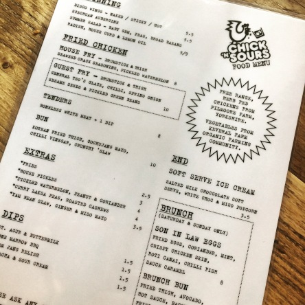 chick n sours london food menu