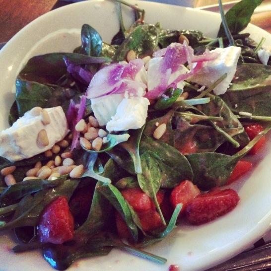 salad at Vapiano Soho