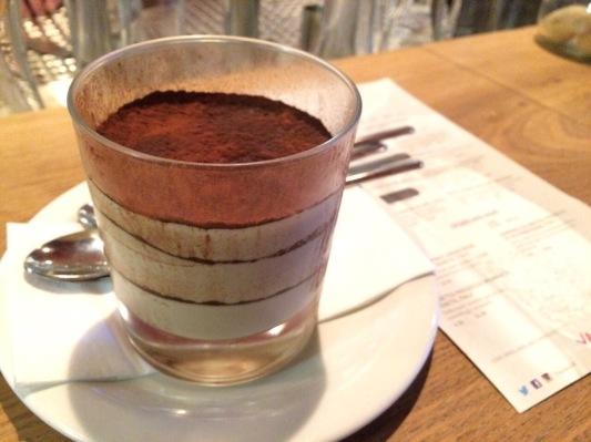 dessert at Vapiano Soho London
