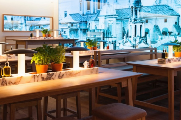 interior seating Vapiano soho