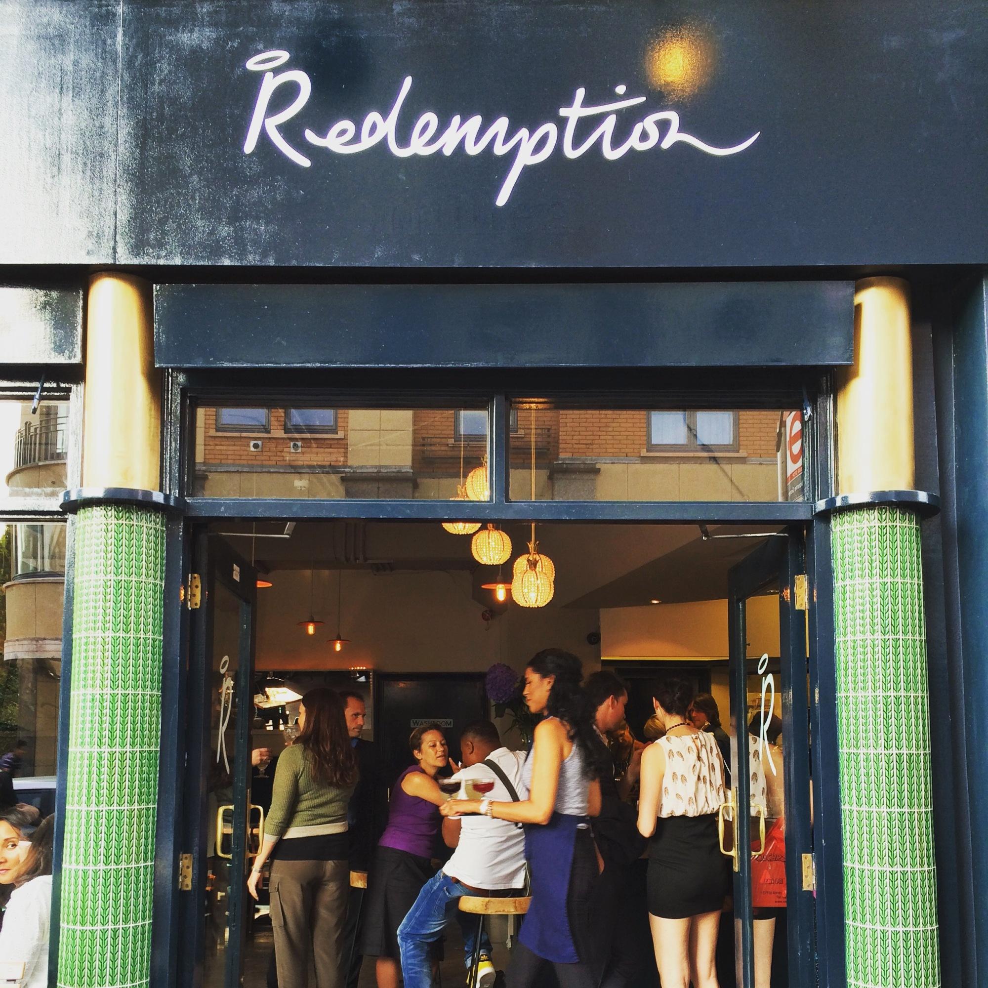 redemption restaurant bar notting hill london