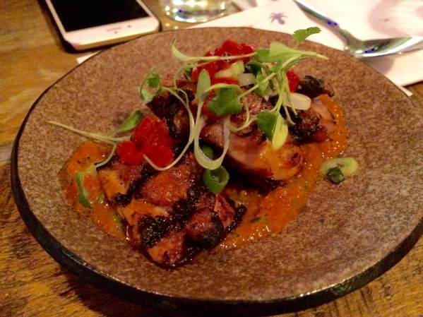 chicken dish at senor ceviche london
