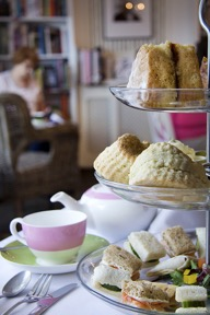LR Afternoon High Tea Bookshelf Background © Jodie Whyte, Beatons House Photographer
