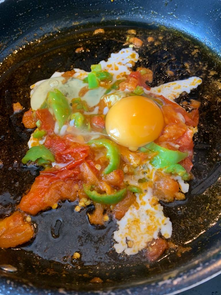Desi masala fried eggs